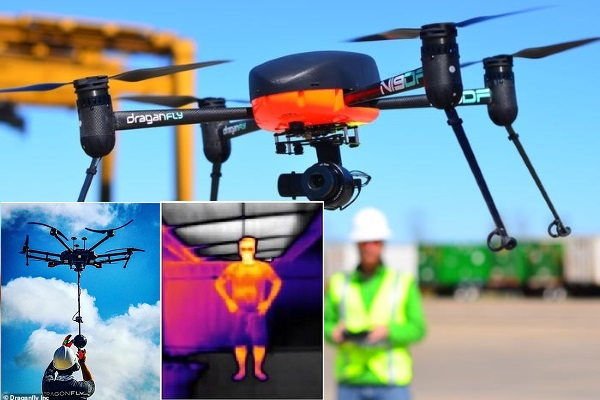 Cảnh sát Mỹ dùng drone đo thân nhiệt từ xa