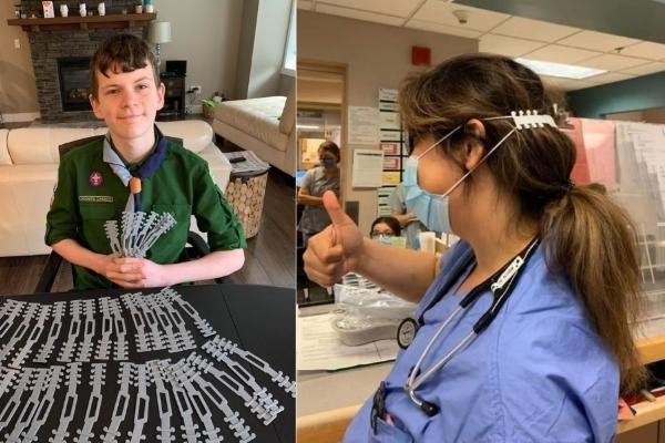 'Tai giả' giúp y bác sĩ không bị đau khi đeo khẩu trang