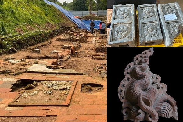 Hé lộ dấu tích ngự hoa viên ở Hoàng thành Thăng Long
