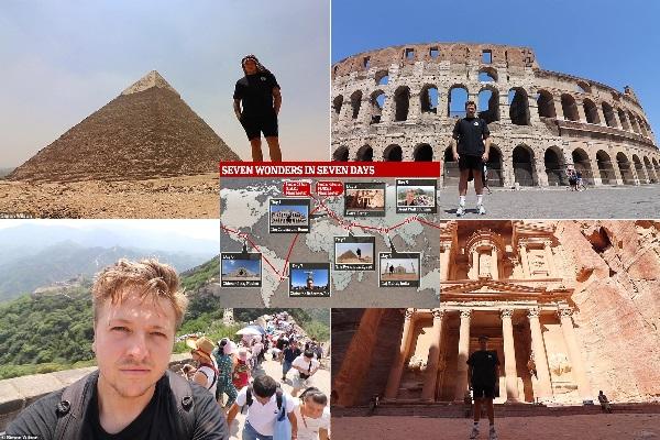 Hành trình 'không tưởng': Thăm 7 kỳ quan thế giới trong 7 ngày