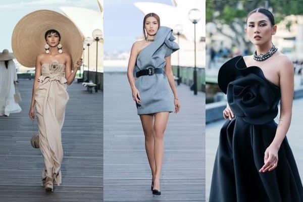 Hoa hậu H'Hen Niê và các người đẹp tỏa sáng trong BST của Đỗ Mạnh Cường