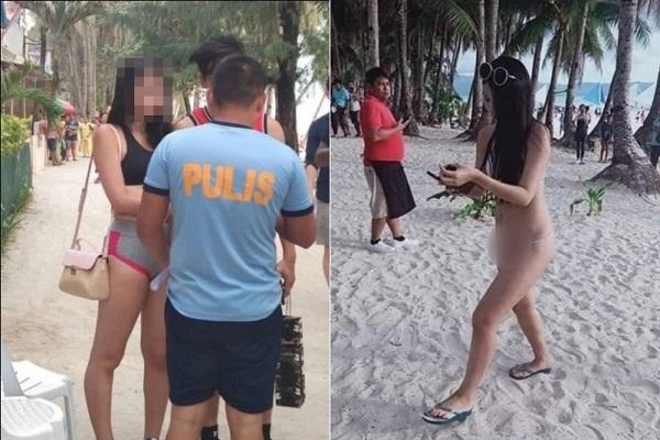 Nữ du khách bị phạt vì mặc bikini dây 'siêu mảnh'