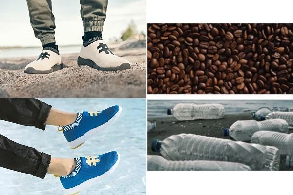 Giày làm bằng... bã cà phê, không thấm nước