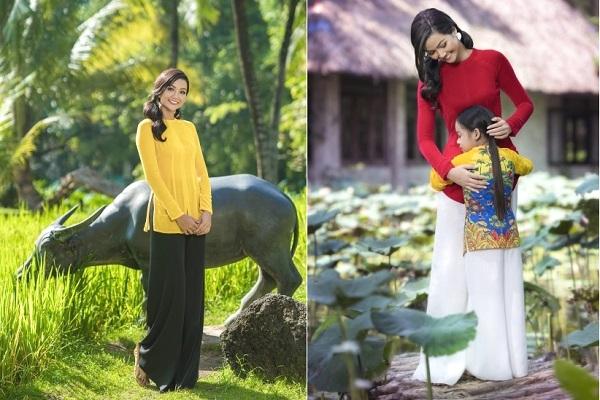 H'Hen Niê hóa 'cô giáo làng' với áo bà ba Thuận Việt