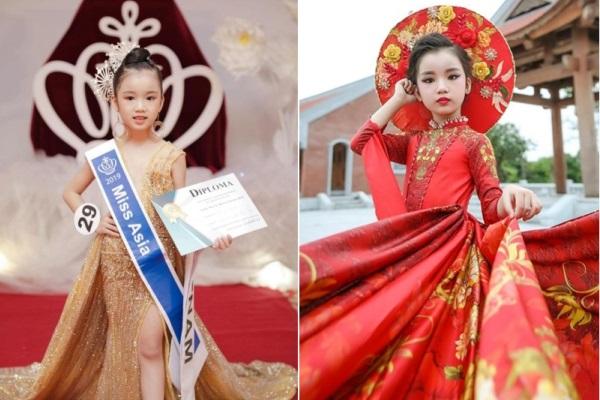 Vẻ đẹp của cô bé Việt đăng quang Hoa hậu Hoàn vũ nhí 2019