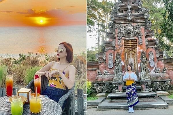 Á hậu Hà Thu khám phá thắng cảnh Bali