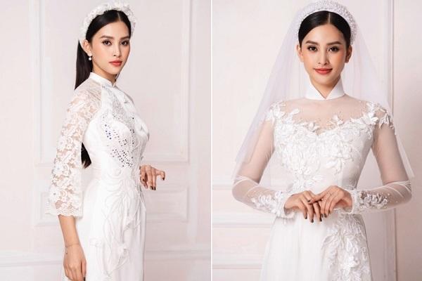 Hoa hậu Tiểu Vy dịu dàng, quý phái với áo dài