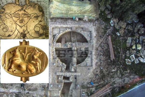 Khám phá 2 ngôi mộ cổ chứa hàng nghìn miếng vàng lá