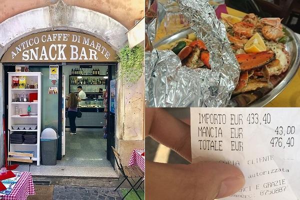 Nhà hàng Ý bị 'tẩy chay' vì 'chặt chém' du khách