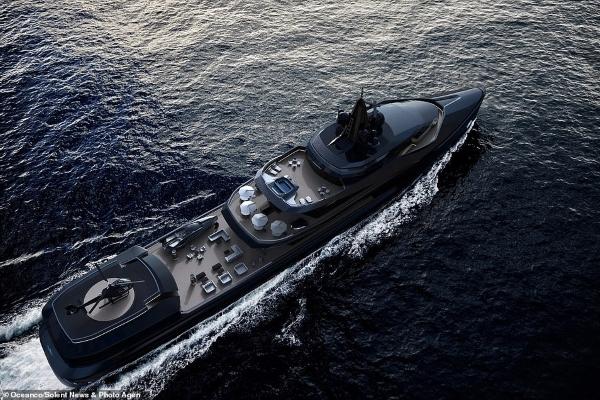 Ngắm siêu du thuyền triệu đô, có tàu ngầm, máy bay trực thăng riêng