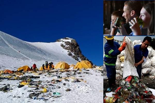 Rác trên đỉnh Everest thành ly tách trong... khách sạn 5 sao