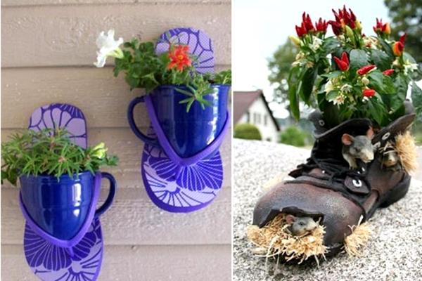 Không gì là bỏ đi (Kỳ 10): Những chiếc giày 'nở hoa'
