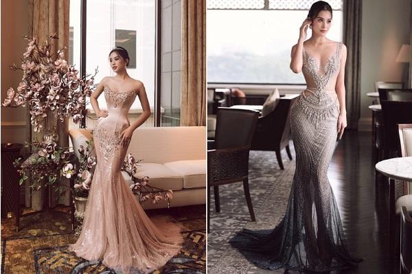 Hoa hậu Tiểu Vy lộng lẫy với đầm dạ hội