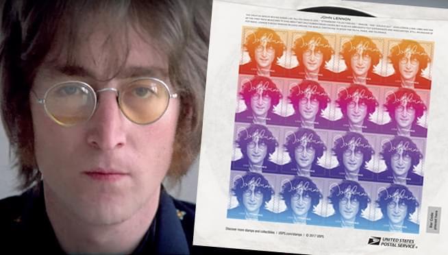 Huyền thoại John Lennon được vinh danh trên tem