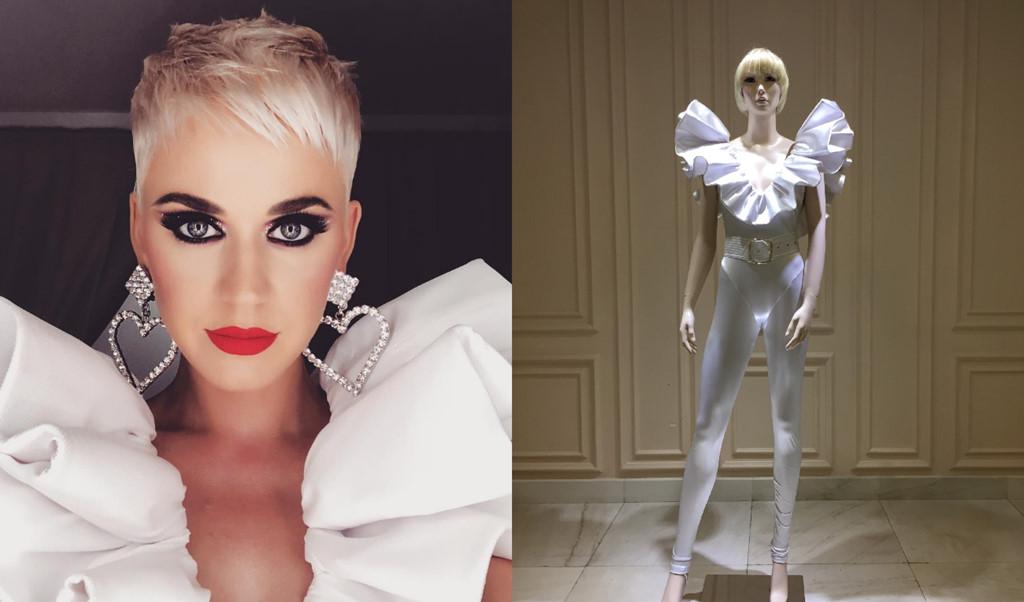 Katy Perry mê mẩn trang phục của nhà thiết kế Công Trí