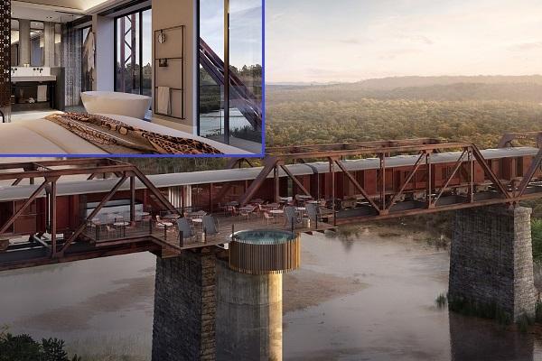 Khách sạn lơ lửng giữa cầu