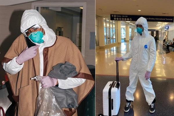 Đi du lịch mùa dịch, Naomi Campbell mặc đồ bảo hộ 400 nghìn đồng