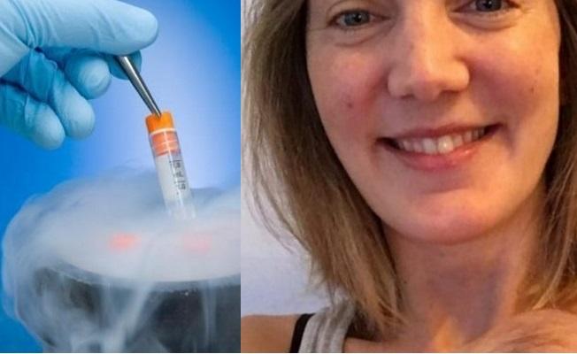 Nữ bệnh nhân ung thư đầu tiên sinh con bằng trứng đông lạnh