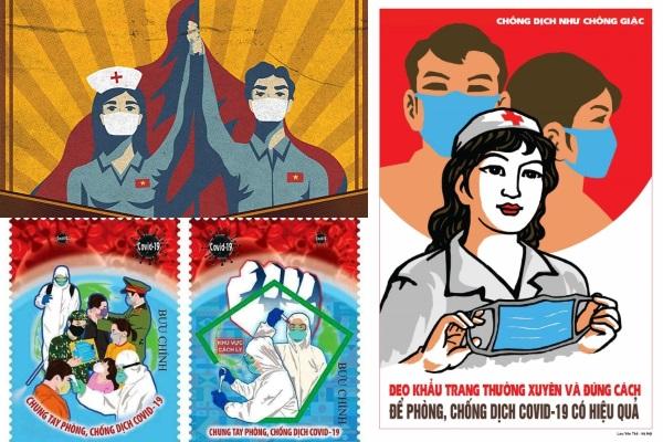 Báo Anh ấn tượng với tranh cổ động 'chống dịch như chống giặc' của Việt Nam