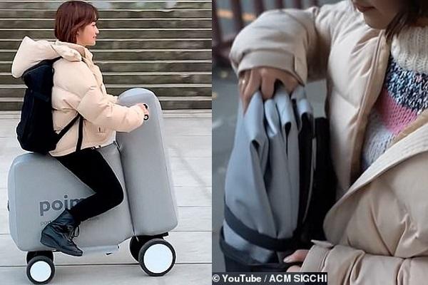 Chiếc xe đạp điện có thể nằm gọn trong… ba lô