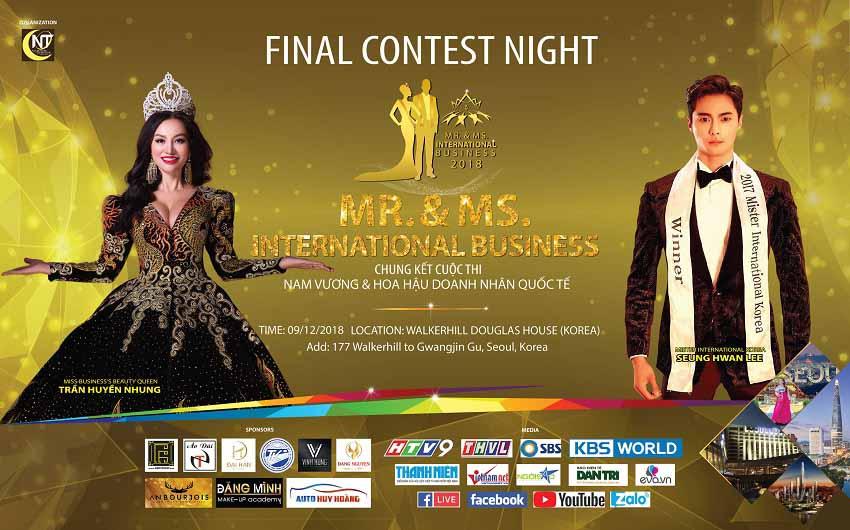 """Chung kết MR &MS International Business tại Seoul (Hàn Quốc) quy tụ dàn sao và khách mời """"khủng"""""""