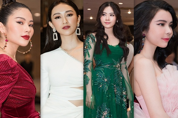 Hà Thu, Huỳnh Vy, Nam Em, Nam Anh đầu tư váy áo dự sự kiện đầu năm
