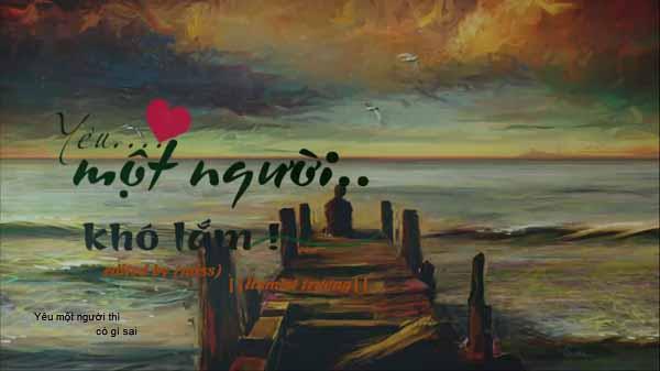 Yêu Một Người Khó Lắm - Hamlet Trương