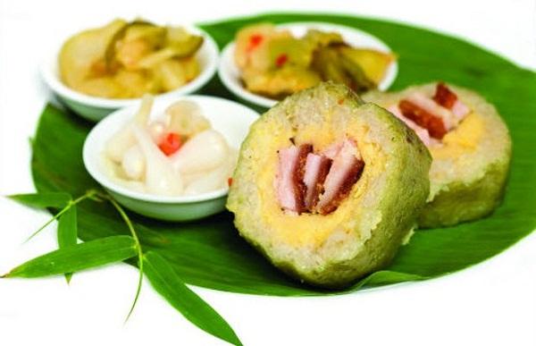 Độc đáo món Bánh tét lá mật cật Phú Quốc