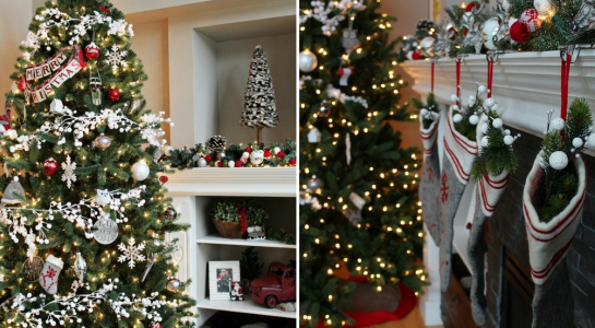 Chiêm ngưỡng các cây thông Noel trang trí đơn giản nhưng cực 'chất'